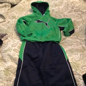 Puma jogger set. Green and Navy.  2 sets for sale